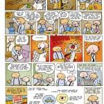 Tegneserie til magasin om ældre og IT...Med placeringen på bagsiden var sigtet med historien at gøre opmærksom på fordelene ved at få en computer ind i sit liv...