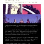 Fernisering på Biblioteket Kulturværftet: 'De gale' som graphic novel