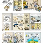 Tegneserie til KFUM/Ks blad for børn. Temanummer om fundraising.
