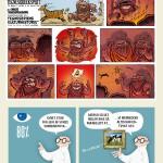 "Side fra ""Tegneseriens kulturhistorie - på 10 minutter"". Et projekt jeg lavede for CopyDan."