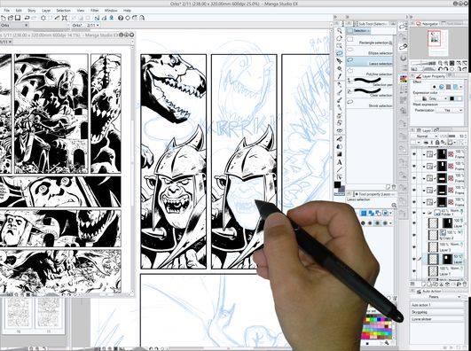 Tegneserietegner: Fra Peter Snejbjergs kurser i Manga Studio, som foreningen gennemførte i 2014 og 2015.