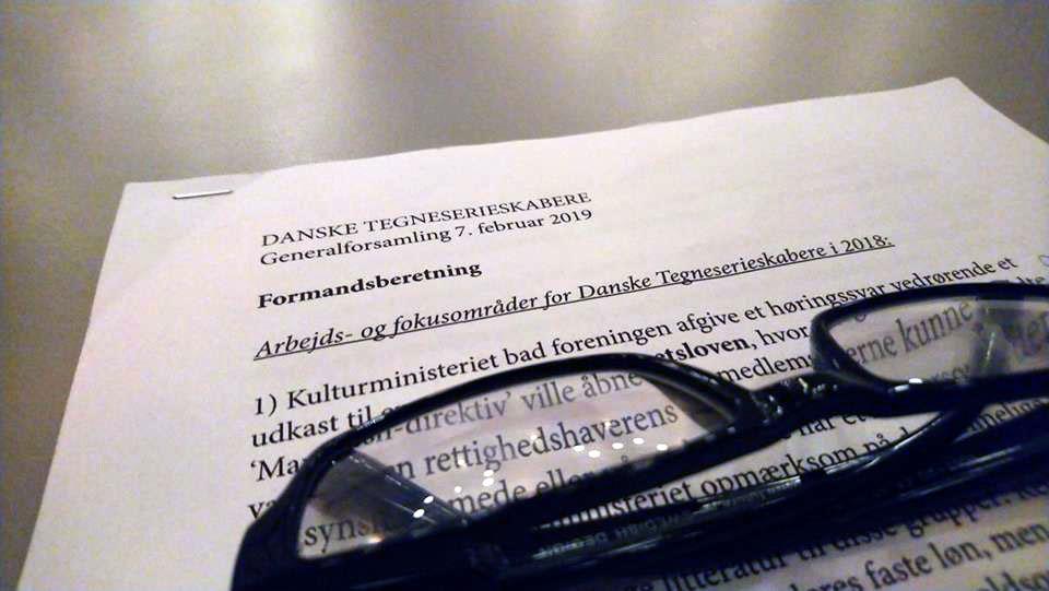 Danske Tegneserieskabere generalforsamling 7 februar 2019